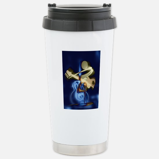The Guitar Player, Abst Stainless Steel Travel Mug