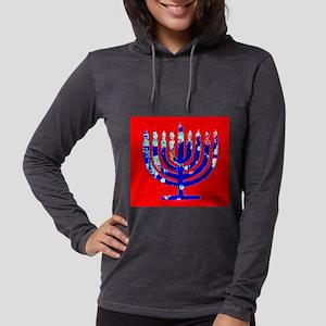 Red Blue Menorah Hanukkah 4Jos Long Sleeve T-Shirt