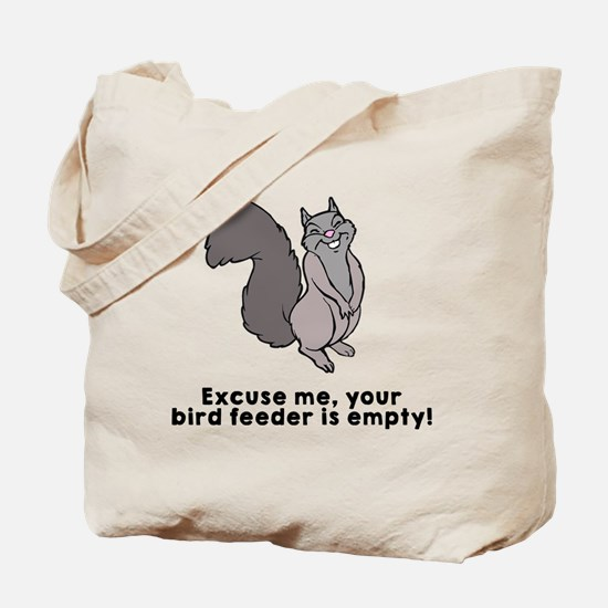Bird feeder empty Tote Bag