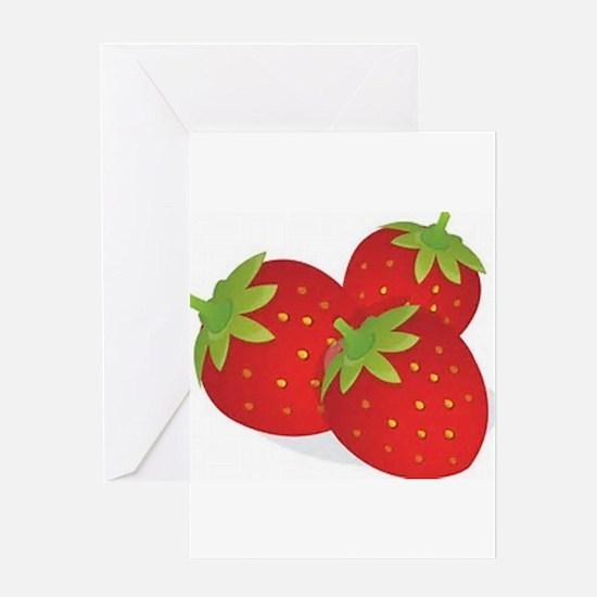 Strawberry Trio Greeting Cards