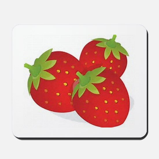 Strawberry Trio Mousepad