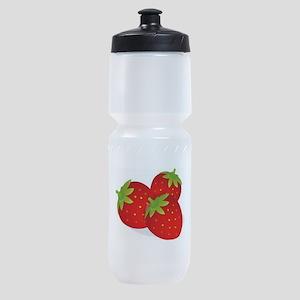 Strawberry Trio Sports Bottle