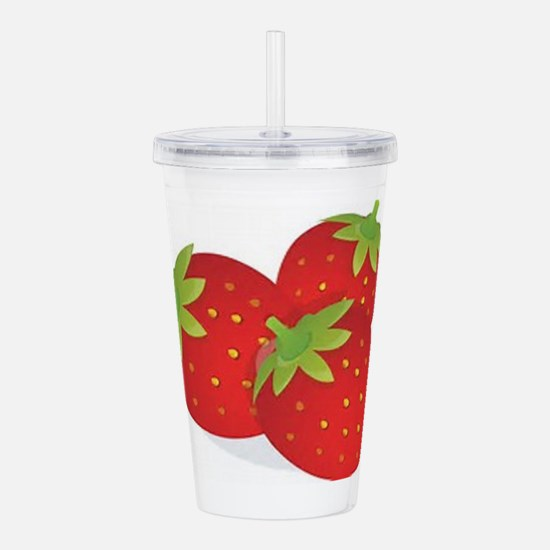 Strawberry Trio Acrylic Double-wall Tumbler