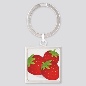 Strawberry Trio Keychains