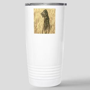 country landscape black Stainless Steel Travel Mug