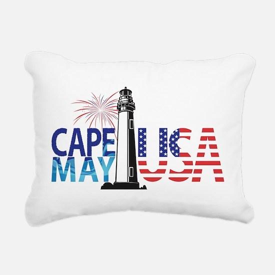 Cape May USA Rectangular Canvas Pillow