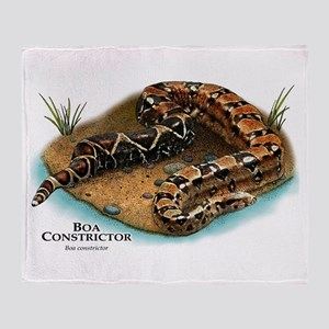 Boa Constrictor Throw Blanket