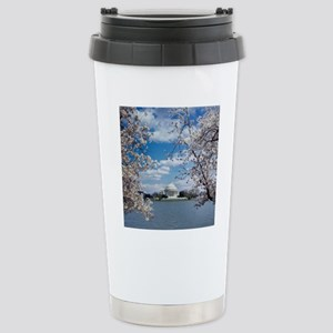 Jefferson Memorial with Stainless Steel Travel Mug