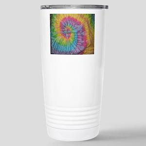 rainbow aura twirl tied Stainless Steel Travel Mug