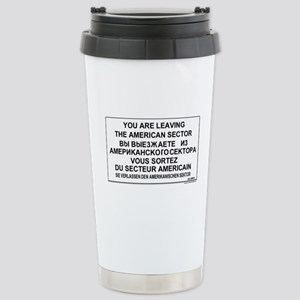 You Are Leaving The Ame Stainless Steel Travel Mug