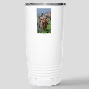 Highland Cow Standing b Stainless Steel Travel Mug