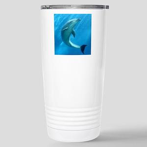 Playful Dolphin Stainless Steel Travel Mug