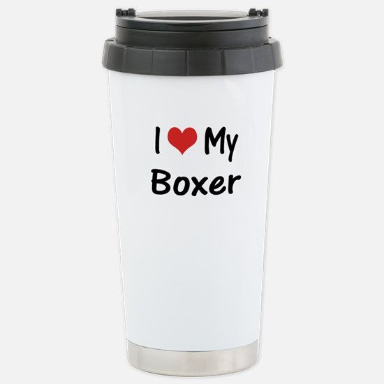 I Heart My Boxer Stainless Steel Travel Mug