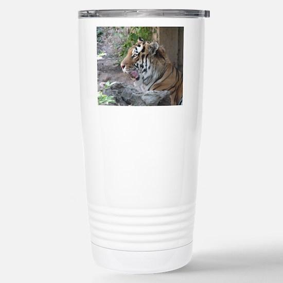 Tiger Licking His Chops Stainless Steel Travel Mug
