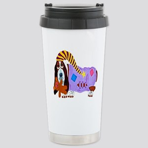 Basset Hound Bedtime Stainless Steel Travel Mug