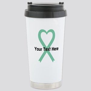 Personalized Light Gree Stainless Steel Travel Mug