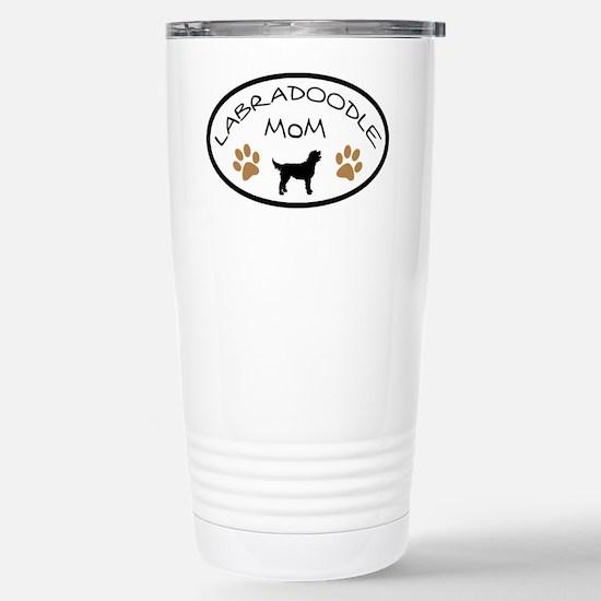Labradoodle Mom Oval Stainless Steel Travel Mug