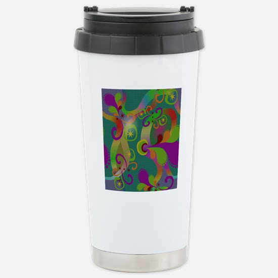Abstract Art Stainless Steel Travel Mug