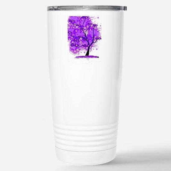 Purple Tree Art Stainless Steel Travel Mug