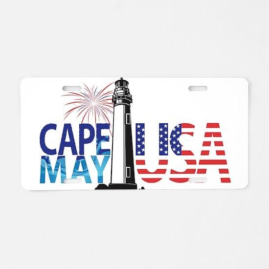 Cape May USA Aluminum License Plate