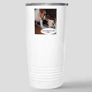 English Bulldog and Shi Stainless Steel Travel Mug