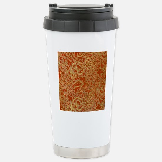 William Morris Poppy De Stainless Steel Travel Mug