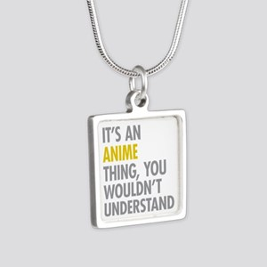 Its An Anime Thing Silver Square Necklace