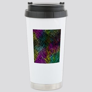 Abstract Colors Stainless Steel Travel Mug