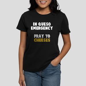 Queso Emergency Cheeses Women's Dark T-Shirt
