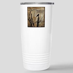 Crow Collage Stainless Steel Travel Mug