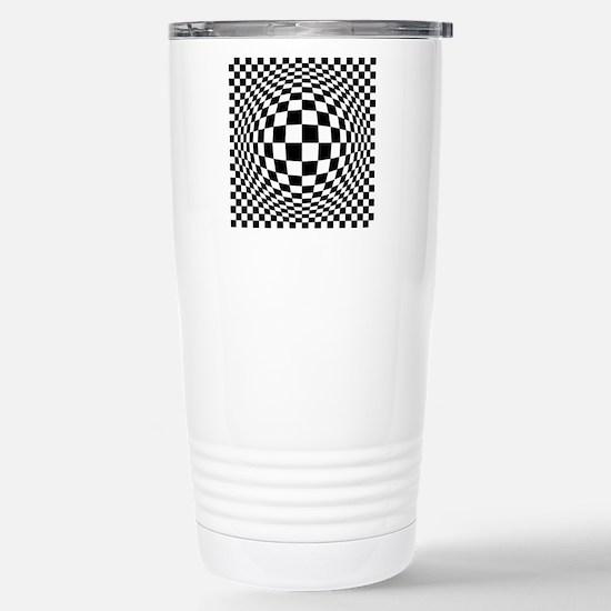 Ex[amded Optical Check Stainless Steel Travel Mug