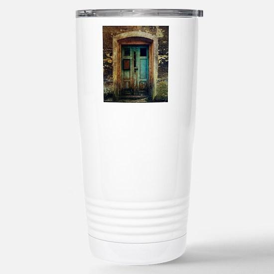 Rustic Door Stainless Steel Travel Mug