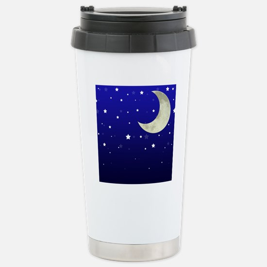 Moon and Stars Stainless Steel Travel Mug