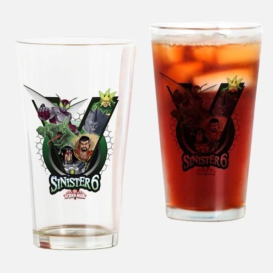 Sinister Six V Drinking Glass