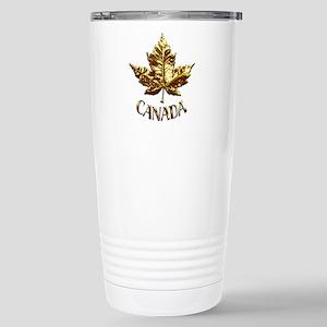 Gold Canada Souvenir Stainless Steel Travel Mug