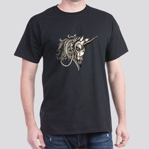 Steampunk Fantasy Unicorn Dark T-Shirt