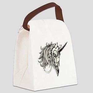 Steampunk Fantasy Unicorn Canvas Lunch Bag