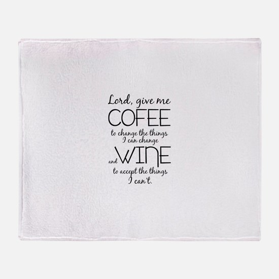 Lord, give me coffee Throw Blanket