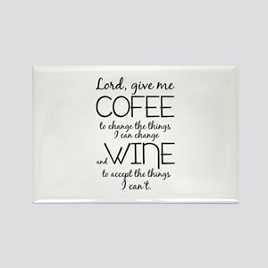 Lord, give me coffee Rectangle Magnet