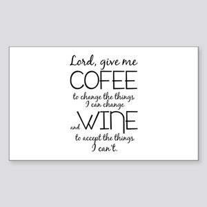 Lord, give me coffee Sticker (Rectangle)