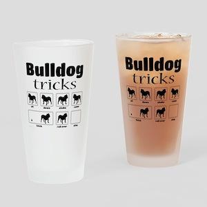 Bulldog Tricks Drinking Glass