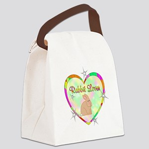 Rabbit Lover Canvas Lunch Bag