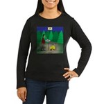 Zombie Campfire Women's Long Sleeve Dark T-Shirt