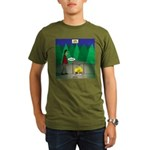 Zombie Campfire Organic Men's T-Shirt (dark)