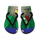 Zombie Campfire Flip Flops