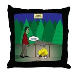 Zombie Campfire Throw Pillow