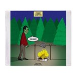 Zombie Campfire Throw Blanket