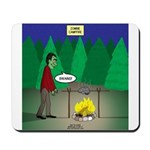 Zombie Campfire Mousepad
