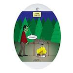 Zombie Campfire Oval Ornament