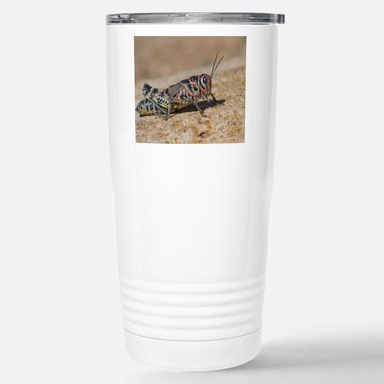 Colorful Grasshopper Stainless Steel Travel Mug